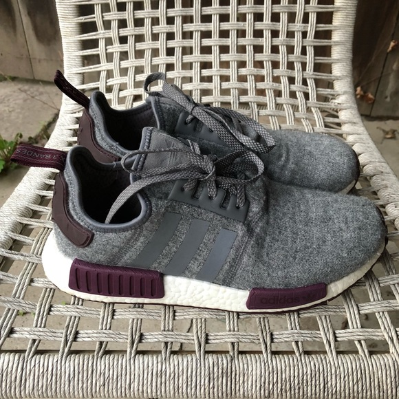 a38e55e78 adidas Other - Adidas NMD - Wool Grey Four Maroon - Men s 10.5